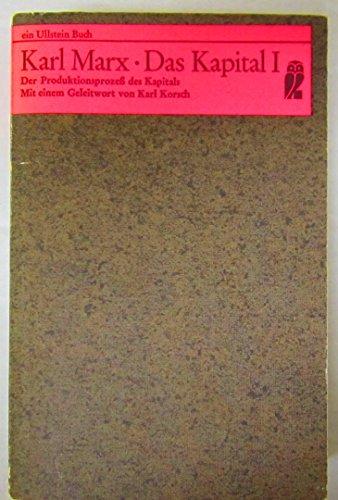 9783548028064: KARL MARX - DAS KAPITAL I [Paperback]