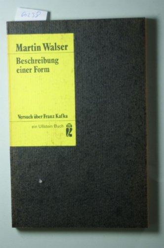 9783548028781: Beschreibung einer Form: Versuch über Franz Kafka (Ullstein Buch)