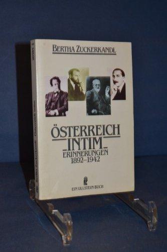 9783548209852: Österreich intim. Lebenserinnerungen