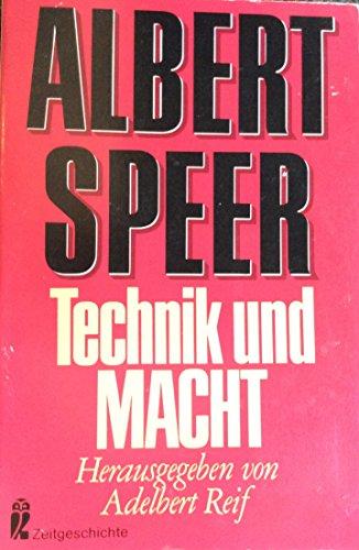 Technik und Macht: Speer, Albert: