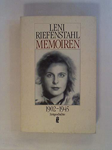 Memoiren. 1902 - 1945. ( Zeitgeschichte). - Riefenstahl, Leni