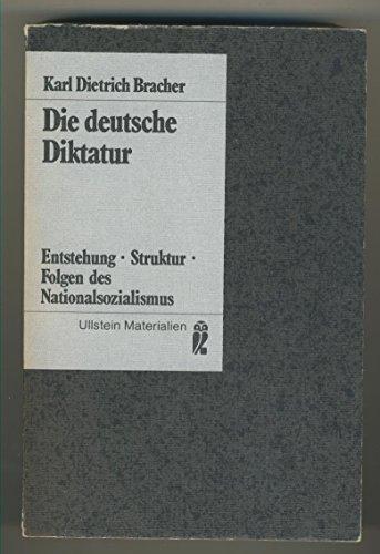 9783548350028: Die deutsche Diktatur: Entstehung, Struktur, Folgen d. Nationalsozialismus (Ullstein Buch ; Nr. 35002) (German Edition)