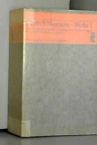 Werke I: Nietzsche, Friedrich: