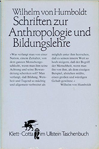 9783548390840: Schriften zur Anthropologie und Bildungslehre