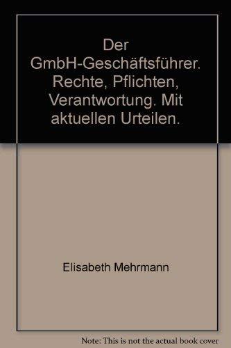 9783548700601: Der GmbH-Geschäftsführer.