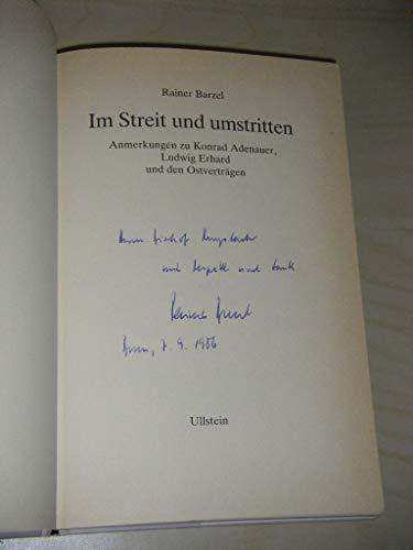 Im Streit und umstritten: Anmerkungen zu Konrad: Barzel, Rainer