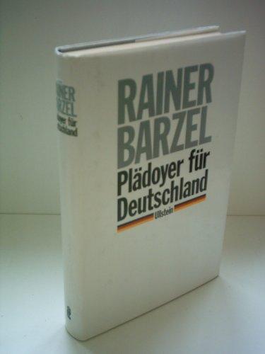 Pla?doyer fu?r Deutschland (German Edition): Barzel, Rainer