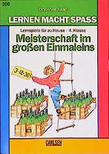 9783551133434: Meisterschaft im grossen Einmaleins. Aufgabensammlung 4. Klasse