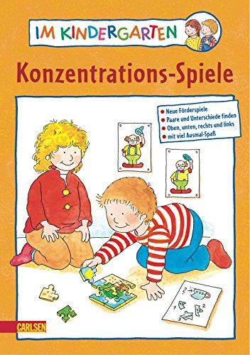 9783551184528: Im. Kindergarten Konzentrations-Spiele: Neue Förderspiele. Paare und Unterschiede finden. Oben, unten, rechts und links. Mit viel Ausmal-Spaß