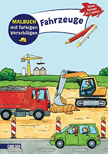9783551185884: Malbuch mit farbigen Vorschl�gen: Fahrzeuge