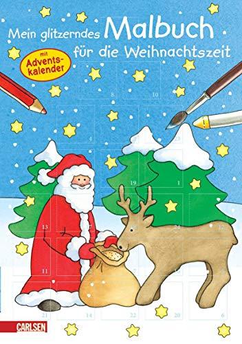 9783551186096: Mein glitzerndes Malbuch für die Weihnachtszeit: mit Adventskalender