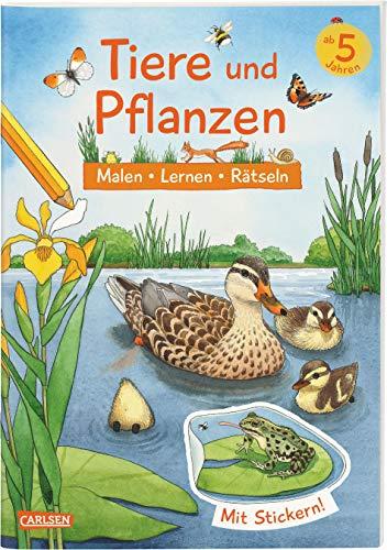 Tiere und Pflanzen: Malen Lernen Rätseln: Mit: Lena Bachmann, Ilka