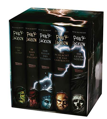 9783551553522: Percy Jackson: Percy-Jackson-Schuber 5 Bände - inkl. E-Book Kane-Chroniken Bd. 1