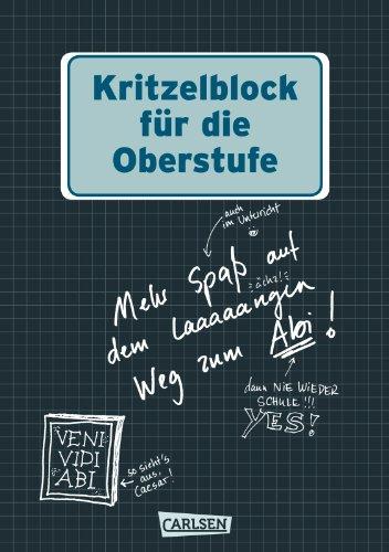 9783551683625: Kritzelblock für die Oberstufe