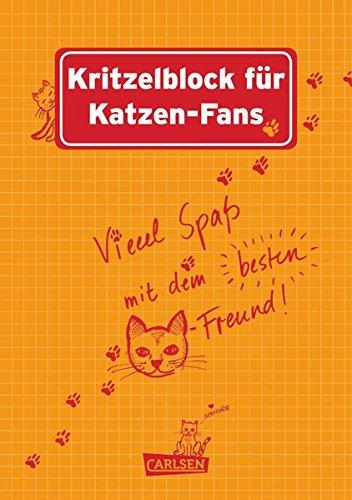 9783551683694: Kritzelblock für Katzen-Fans