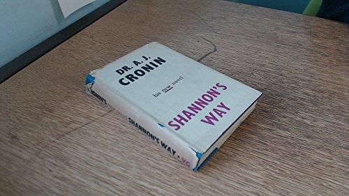 Shannon'S Way: A J Cronin