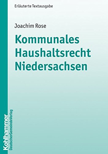 9783555014623: Kommunales Haushaltsrecht Niedersachsen