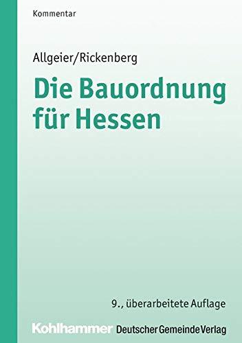 Die Bauordnung für Hessen (HBO): Erich Allgeier