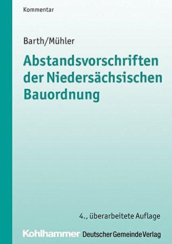 9783555015941: Abstandsvorschriften der niedersächsischen Bauordnung