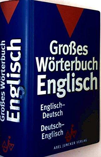 9783558750061: Gro�?es W�rterbuch Englisch