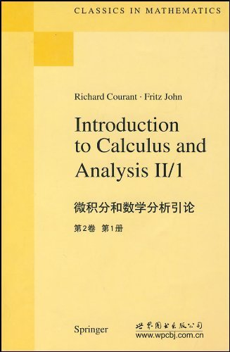 9783566665692: Introduction to Calculus and Analysis, Vol. II/1 (Classics in Mathematics) Reprint of the 1st (first) e Edition by Courant, Richard, John, Fritz published by Springer (1999)