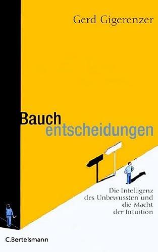 9783570009376: Title: Bauchentscheidungen