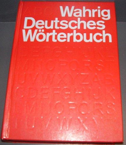 Deutsches Worterbuch: Gerhard Wahrig