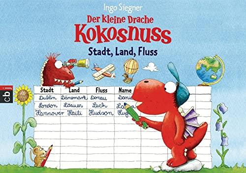 9783570139134: Der kleine Drache Kokosnuss - Spieleblock - Stadt, Land, Fluss: Spiel und Spaß für die Schultüte