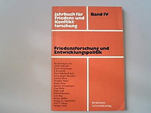 9783571050537: Friedensforschung und Entwicklungspolitik (Jahrbuch für Friedens- und Konfliktforschung) (German Edition)