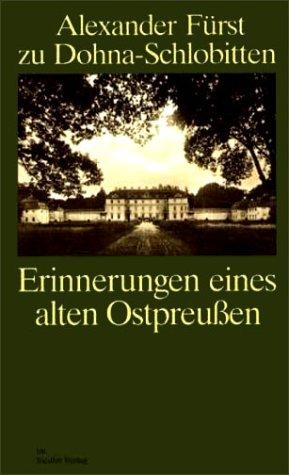 9783572012268: Erinnnerungen eines alten Ostpreußen.