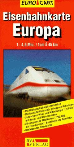9783575116062: Rail Map of Europe (Euro Star Map)