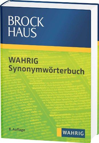 9783577003216: Brockhaus Wahrig Synonymw�rterbuch