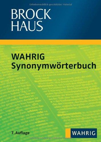 9783577075930: Brockhaus - Wahrig Synonymwörterbuch
