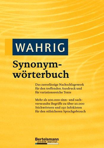 9783577101899: Wahrig Synonymwörterbuch