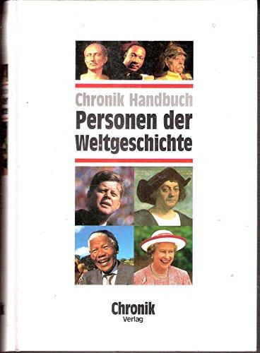 9783577145107: Chronik Handbuch Personen der Weltgeschichte