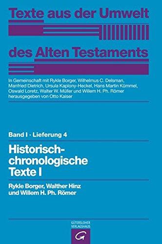 Rechts- und Wirtschaftsurkunden. Historisch-chronologische Texte I: Rykle Borger