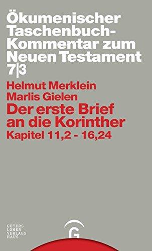 Der erste Brief an die Korinther: Helmut Merklein
