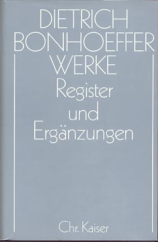 Werke, 17 Bde. u. 2 Erg.-Bde., Bd.17, Register und Ergänzungen: Herbert Anzinger