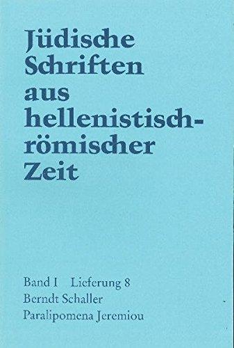 Paralipomena Jeremiou: Berndt Schaller