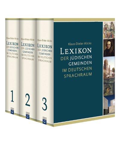 9783579080352: Lexikon der jüdischen Gemeinden im deutschen Sprachraum: Bd.1: Aachen - Groß-Bieberau, Bd.2: Großbock - Ochtendung, Bd. 3 Ochtrup - Zwittau