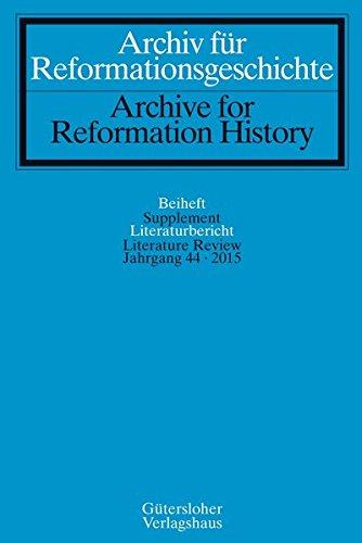 9783579084695: Archiv für Reformationsgeschichte - Literaturbericht