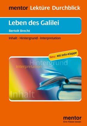 9783580633035: Lekture - Durchblick: Brecht: Leben DES Galilei (German Edition)