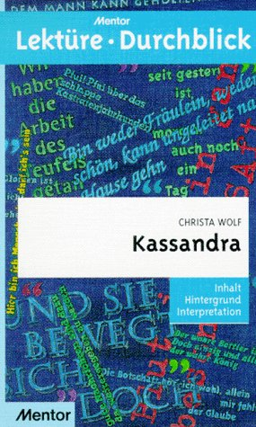 9783580633189: Lektu>RE - Durchblick: Wolf: Kassandra