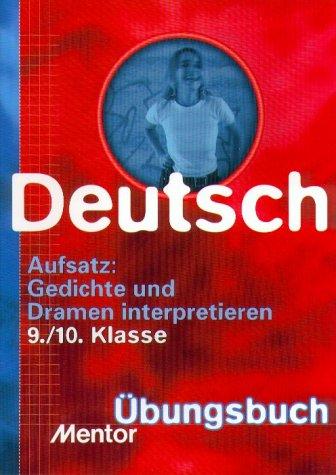 9783580638184 Deutsch Aufsatz Gedichte Und Dramen