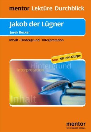9783580653071: Jakob der Lügner: Inhalt - Hintergrund - Interpretation. Neu: Mit Info-Klappe