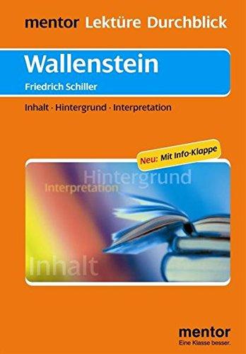 9783580653460: Wallenstein: Inhalt - Hintergrund - Interpretationen / Neu: Mit Info-Klappe