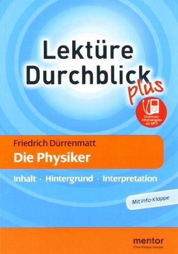 9783580653538: Friedrich Dürrenmatt: Die Physiker: Inhalt - Hintergrund - Interpretation