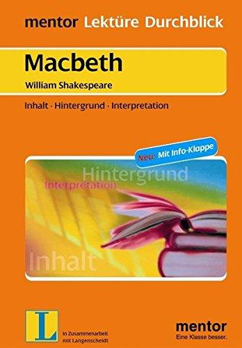 9783580654269: Macbeth. Mit Materialien