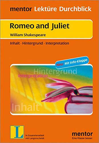 9783580654283: Romeo and Juliet. Mit Materialien: Inhalt - Hintergrund - Interpretation