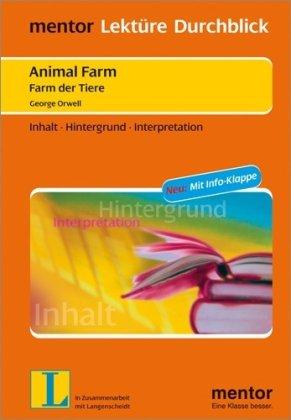 9783580654290: Animal Farm - Farm der Tiere: Inhalt - Hintergrund - Interpretationen. Mit Info-Klappe